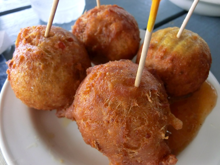 Cod fritters,