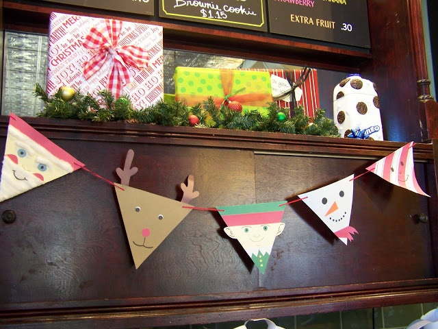 Cute Christmas Paper Pennants Party Decorations On A Budget Pi