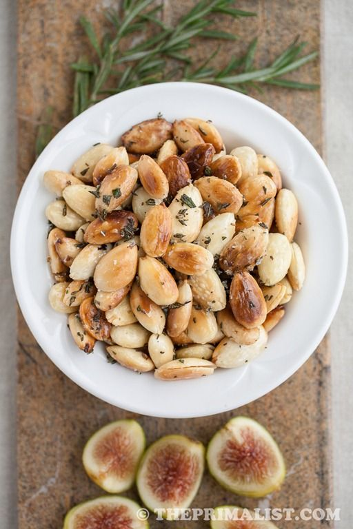 Rosemary Fried Almonds | Food | Pinterest