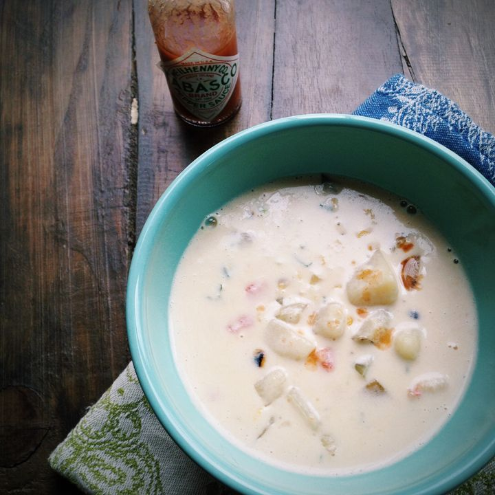 Shrimp and roasted corn chowder | Food & Drink | Pinterest