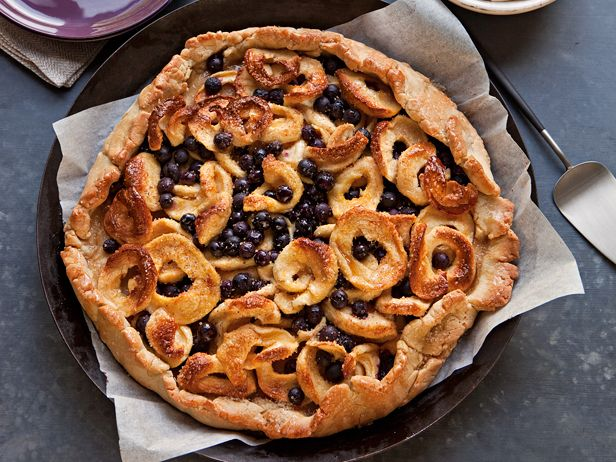 Free-form apple and blueberry pie: Full of delicious fruit, this ...
