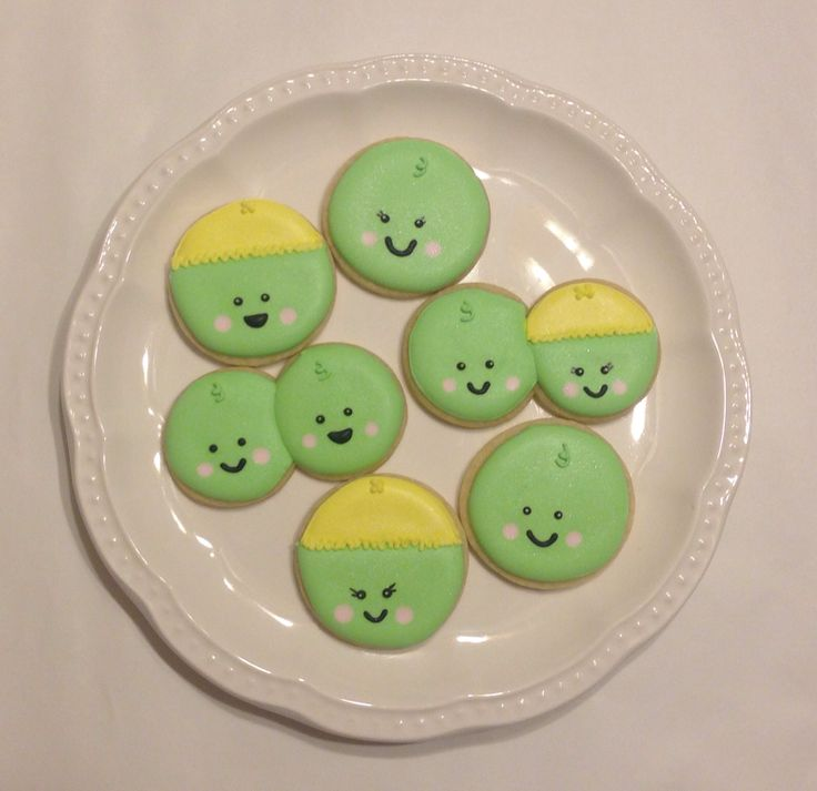 two peas in a pod baby shower cookies for parties weddings showe