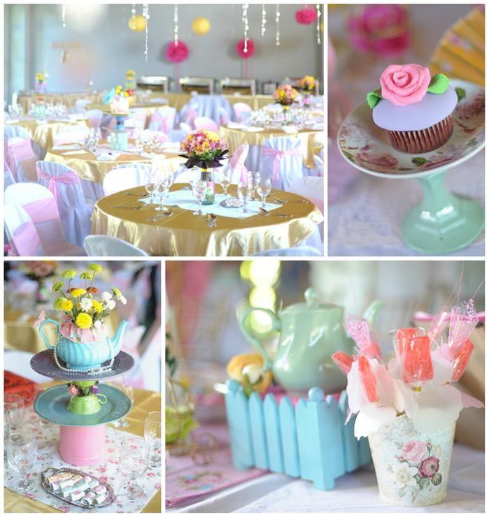 Princess tea party planning ideas supplies idea for Tea party decoration ideas