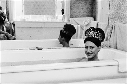 Princess Margaret Taking A Bath, 1962. Taken by her husband Lord Snowdon.