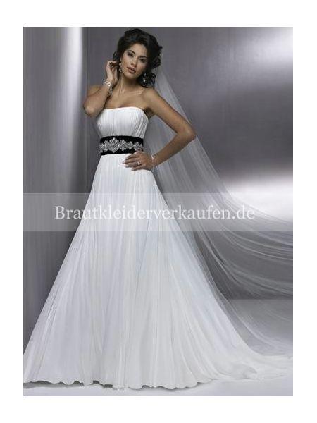 schwarz und weiß hochzeitskleid  Farbige Brautkleider  Pinterest