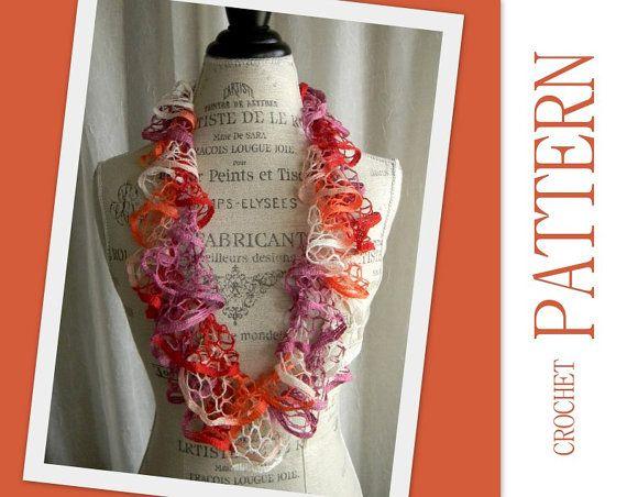 Knit Ruffle Scarf Pattern Starbella : Crochet Pattern for Starbella Infinity Ruffle Scarf