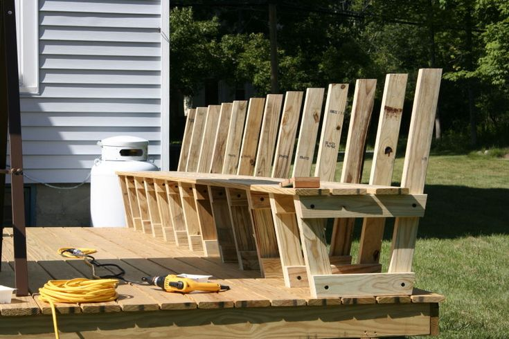 Deck Bench Attaching The Decking Backyard Pool Deck Pinterest