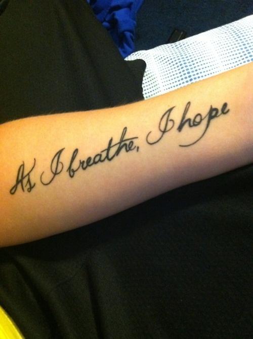 as I breathe, I hope.