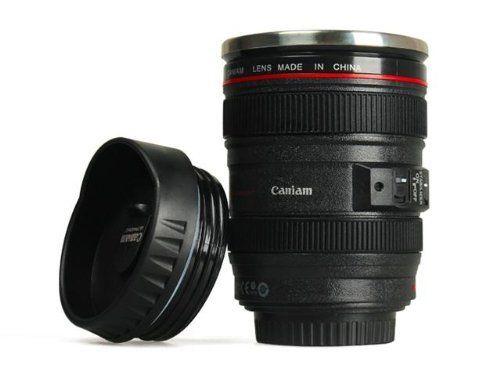 Amazon.co.jp: 第5世代 [Caniam] キャノン カメラ 一眼レフ 24~105ミリ レンズ型 保温 ステンレス マグカップ タンブラー ブラック Caniam 【インポート】: ホーム&キッチン