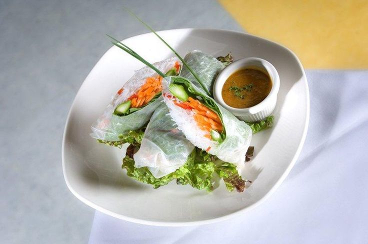 Vegetable Spring Rolls with Peanut Dipping Sauce from Not Your Average ...