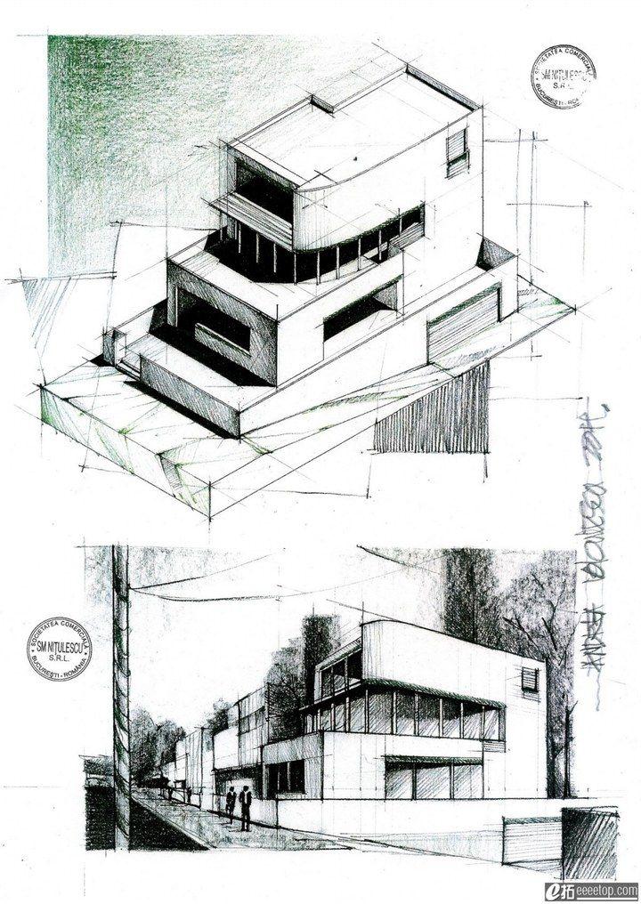 Hand renderings hand renderings pinterest for Architecture sketch
