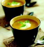 Chilled honeydew, canteloupe and cucumber soup recipe