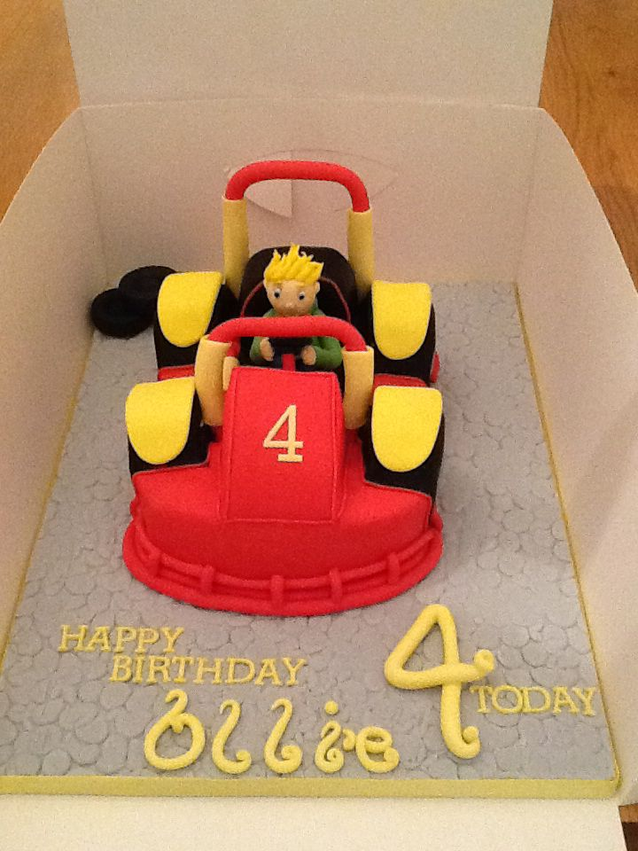go kart birthday cake