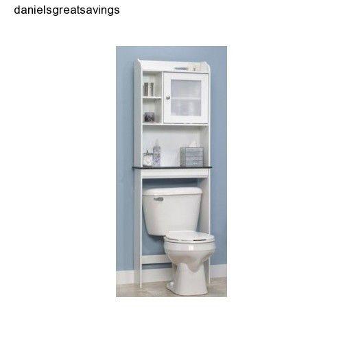bathroom cabinet over toilet storage shelf bath tank topper white van
