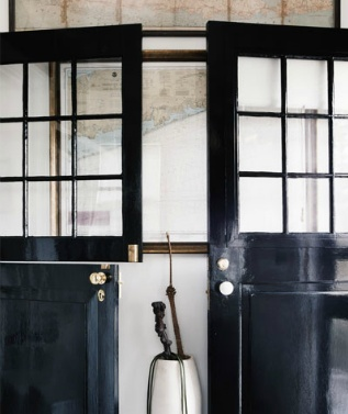 black lacquered doors...