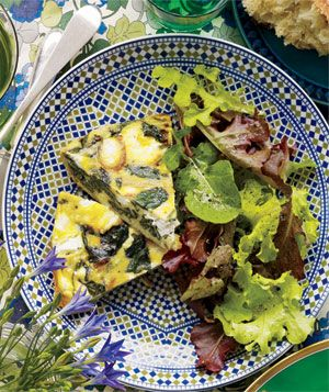 Spinach and Goat Cheese Frittata.