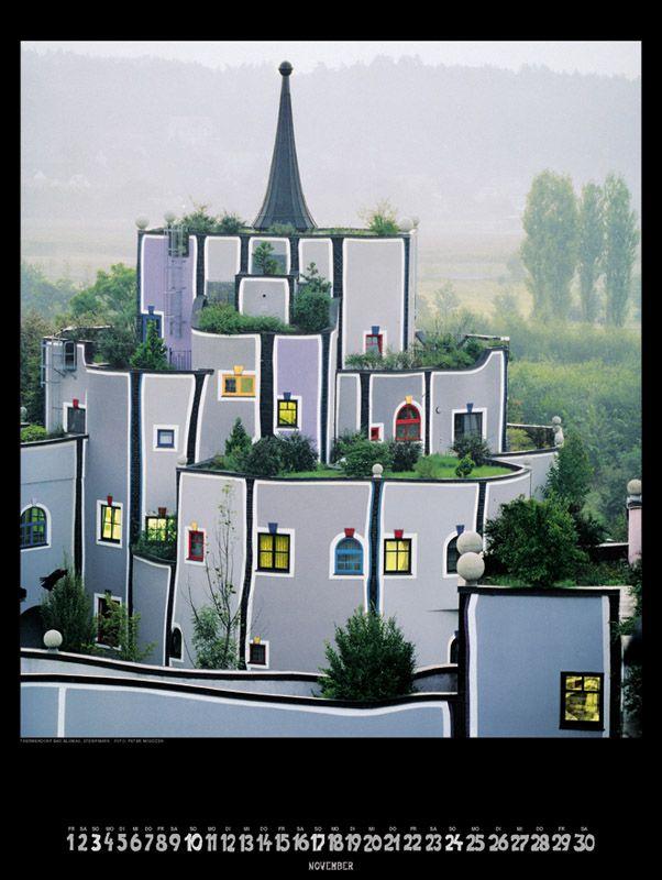 Hundertwasser architecture artists pinterest for Architecture hundertwasser