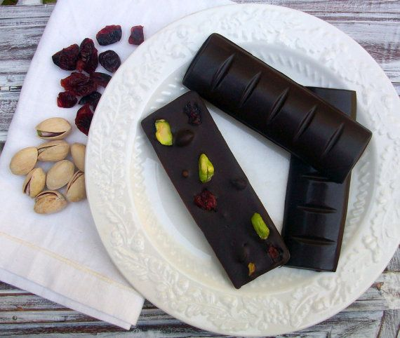 Belgian Chocolate Nut and Dried Fruit Bark Bars All Natural and Organ ...