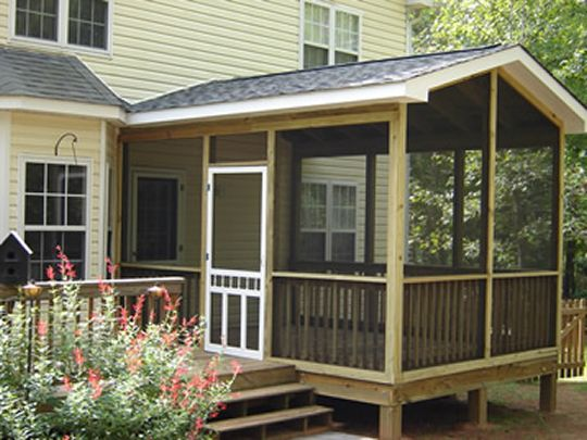 Lovely screen porch mobile home ideas pinterest for Screened in porch ideas for mobile homes