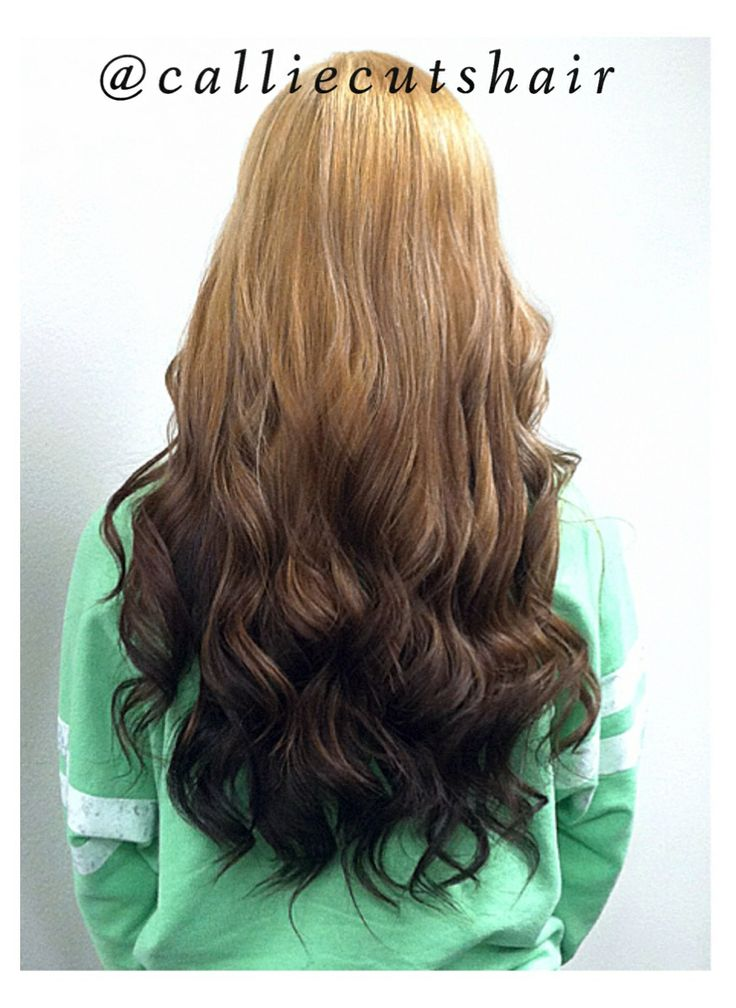 Reverse Ombre Brown to Blonde Hair