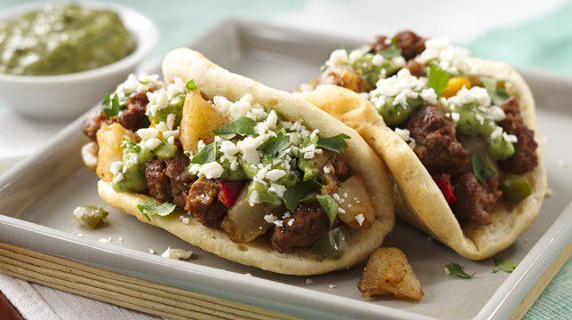 Chorizo Potato Puffy Tacos | Recipe