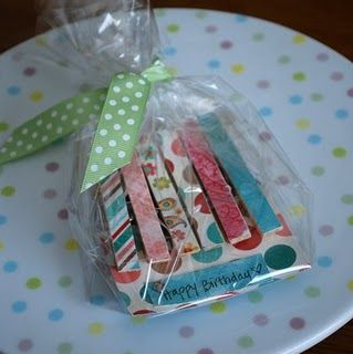 magnetic fridge clips - how to---cute gift idea with scrap paper and mod podge