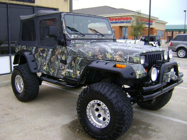 Camouflage Wheels Jeep