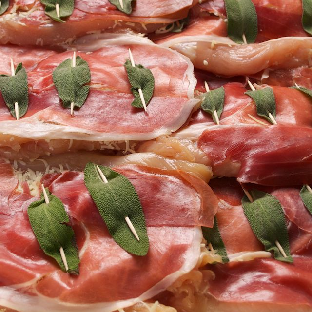 Almost Chicken Saltimbocca - chicken, prosciutto and gooey cheese ...