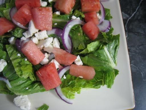 Watermelon, Arugula, and Feta Salad | Yummy in my Tummy | Pinterest