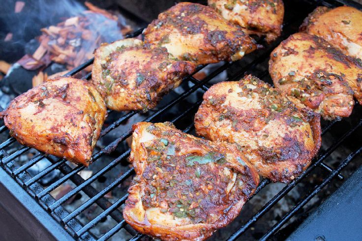 Grilled Jerk Chicken with Spicy White Barbeque Sauce
