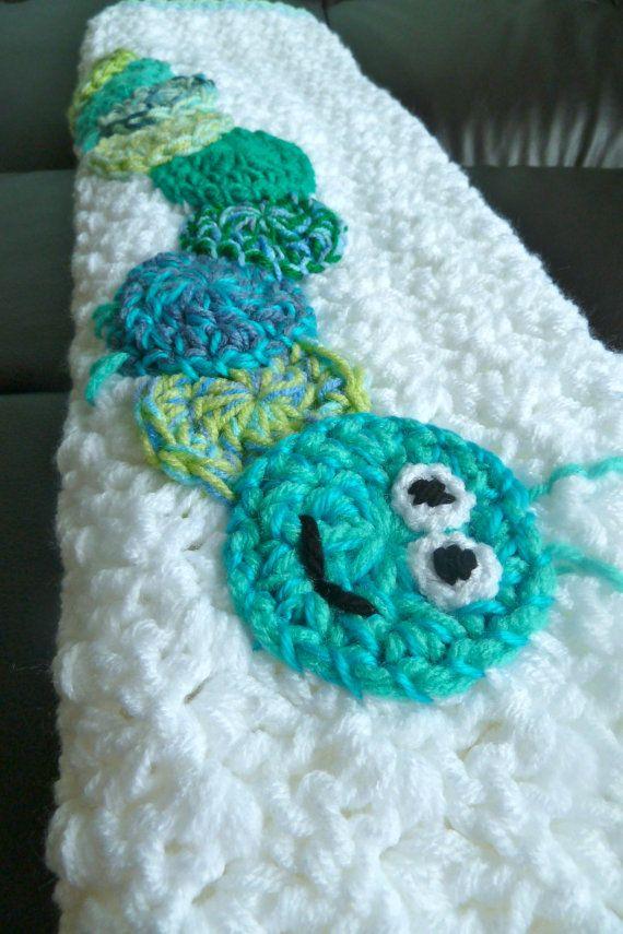 Crochet Caterpillar Baby Blanket Pattern : Crochet Caterpillar Baby Blanket