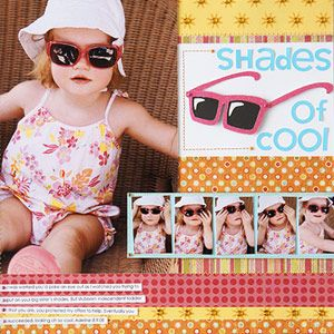 Create Sunglasses for a Summer Scrapbook Page