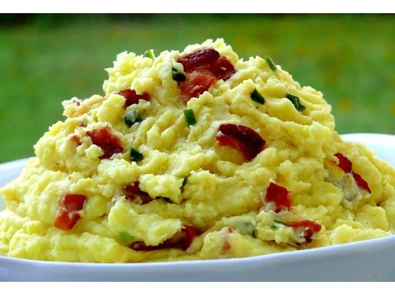 Creamy Bacon-and-Green Onion Mashed Potatoes