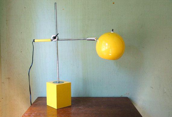 is pure old school mechanics mid century modern eyeball desk lamp. Black Bedroom Furniture Sets. Home Design Ideas