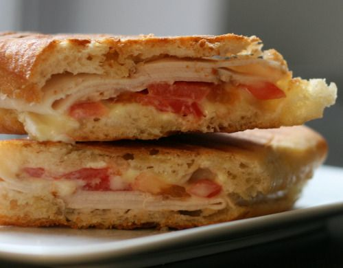 Turkey, Tomato and Brie Panini | Food | Pinterest