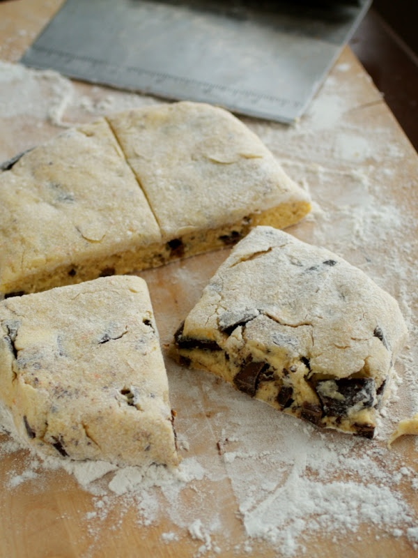 Orange and Dark Chocolate Buttermilk Scones. I used buckwheat flour ...