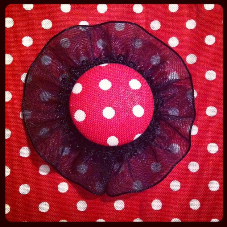 Polka dot Brooch Craft DIY Handmade