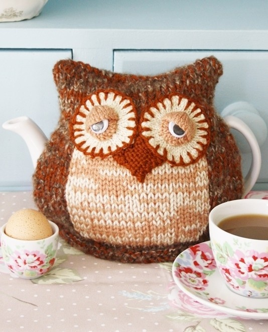Knitted Owl Tea Cosy Pattern : Morning Owl Tea Cosy Knitting Pattern Crafty Pinterest
