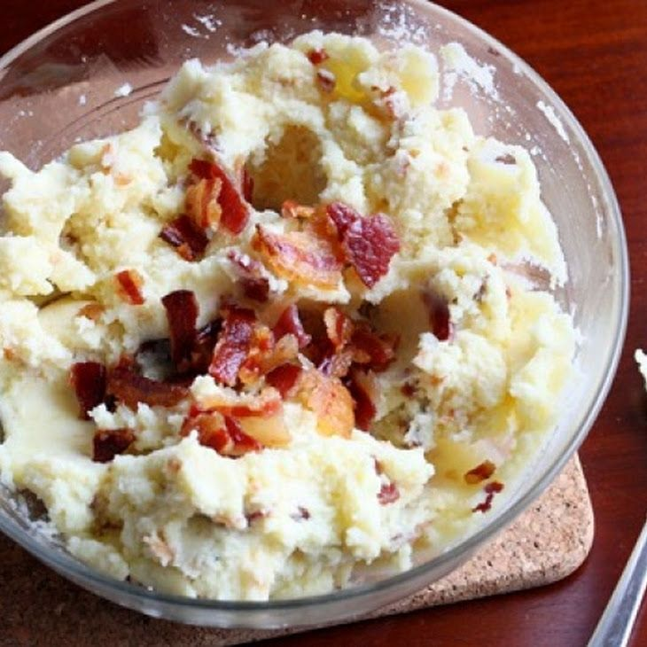Bacon and Buttermilk Mashed Potatoes   FOOD!!!   Pinterest