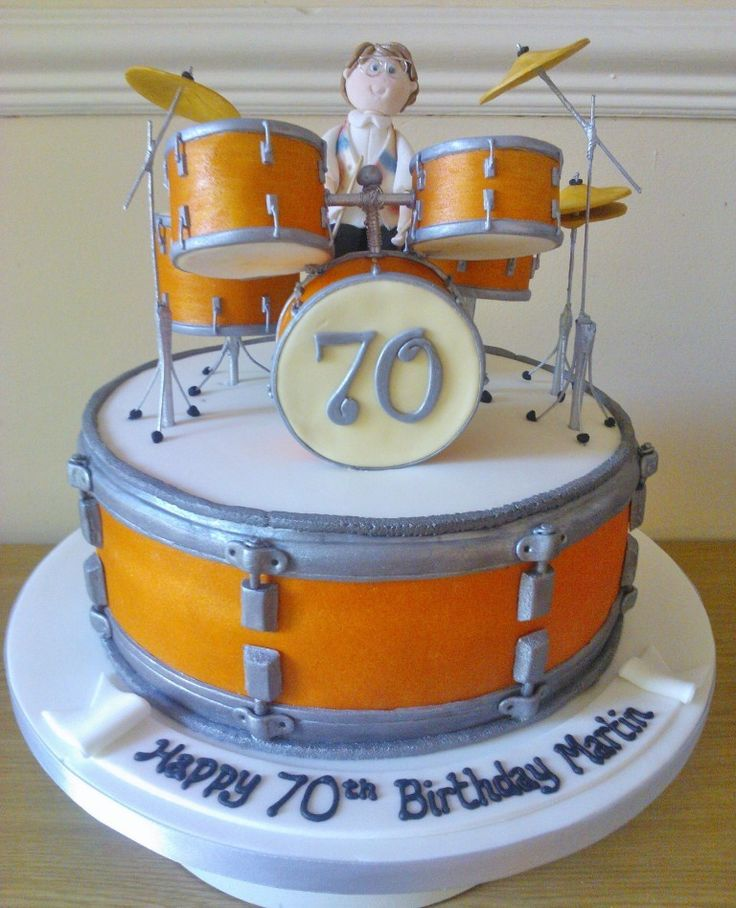 Cake Designs Drum Set : Drum kit cake!!! ~ I love drum kit cakes Drums Pinterest