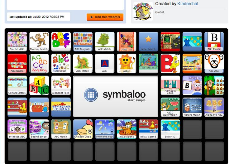 40 computer games that focus on letter ID and letter sounds. No account needed, just bookmark the page and let the kids play.