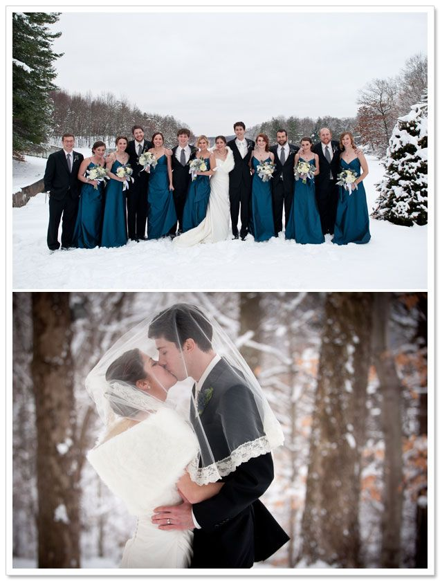 Blue winter wonderland bridesmaids for wedding ideas for Winter wedding colors for bridesmaids dresses