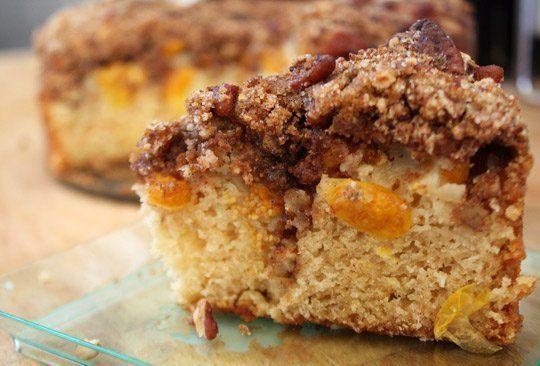 Ground Cherry coffeecake: to use up the ground cherries in the freezer ...