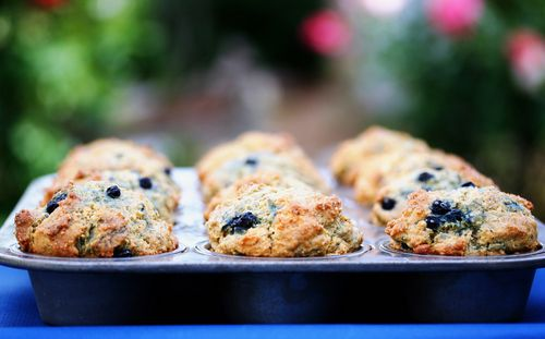 Blueberry Corn #Muffins // via Cheryl Sternman Rule of 5 Second Rule ...