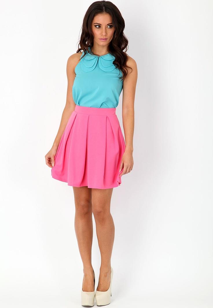 Natia Box Pleat Skirt