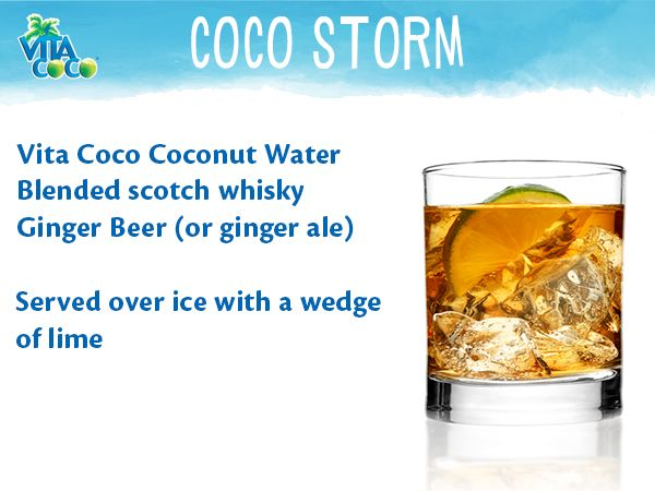 Vita Coco's Coco Storm is a smooth #cocktail perfect to enjoy on a ...