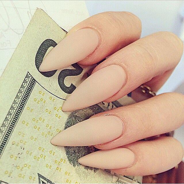 Длинные ногти бежевые