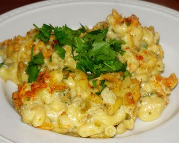 Green Chile Macaroni And Cheese Recipe — Dishmaps