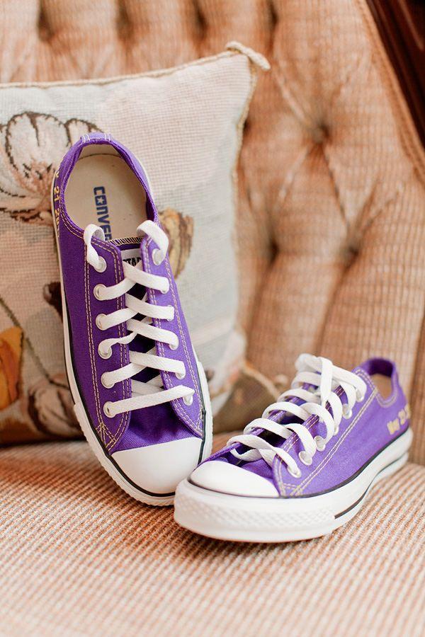 Purple converse  <3