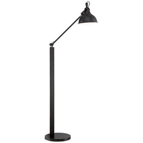 possini euro design skylar bronze adjustable arc floor lamp. Black Bedroom Furniture Sets. Home Design Ideas